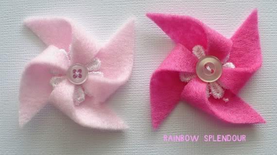 Felt and Lace pinwheels P1090948