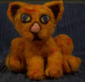 Orange cartoon cat Little Cuddler-Sold! Cat1