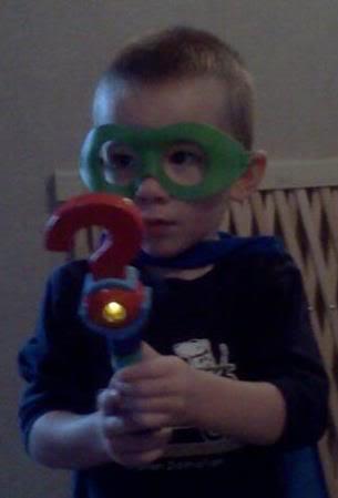 My grandson at Halloween 3 years ago! Davysupery