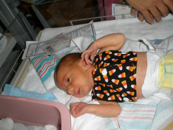 My grandson at Halloween 3 years ago! Preemie4