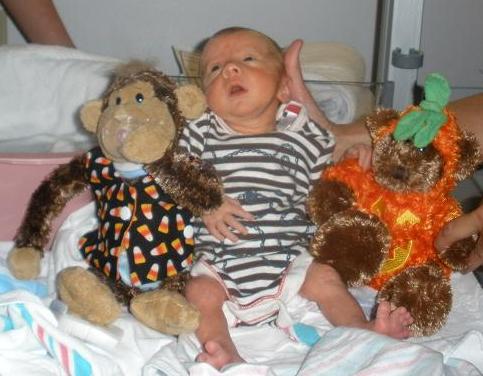 My grandson at Halloween 3 years ago! Preemie5