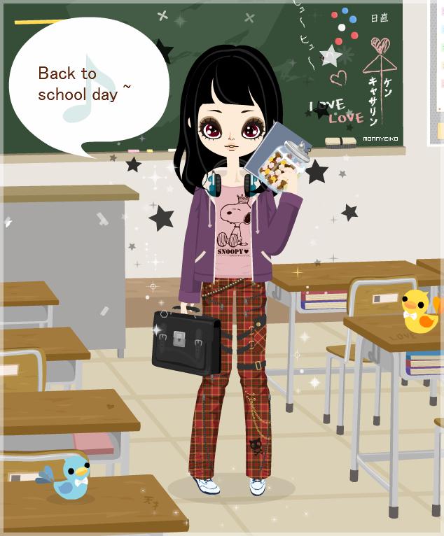Back to School Day Backtoschooldaymoonyeiko