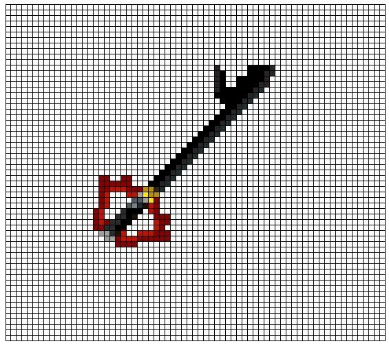 Kingdom Hearts Pixel Patterns DarkKeyblade1
