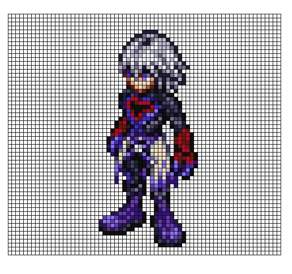 Kingdom Hearts Pixel Patterns ReplacaRiku