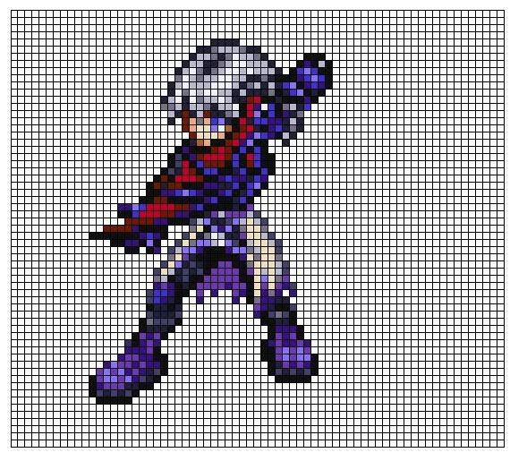 Kingdom Hearts Pixel Patterns RikuReplacabody2