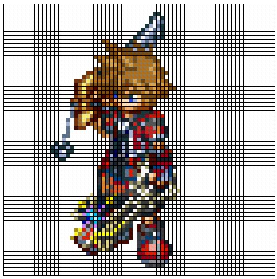 Kingdom Hearts Pixel Patterns ValorFormSora2