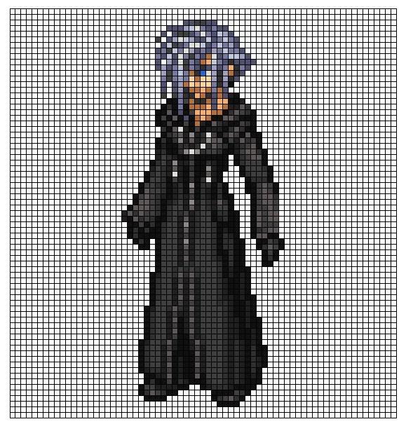 Kingdom Hearts Pixel Patterns Zexionbody1
