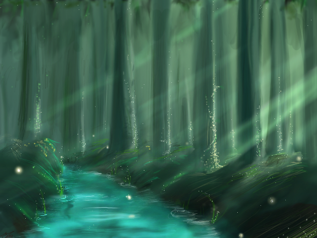 Demon's Forest ((Up In the Mountains)) Forest_light