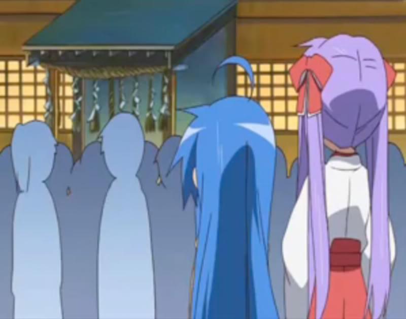 [Lucky Star] [Kagami Hiiragi or Tsukasa Hiiragi] [Miko version] Back