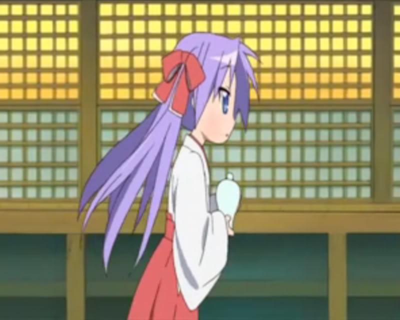 [Lucky Star] [Kagami Hiiragi or Tsukasa Hiiragi] [Miko version] Side