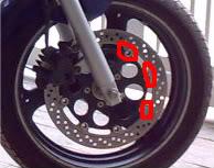 Discos dos freio Dianteiro com inicio de Ferrugem ABCD0006-1