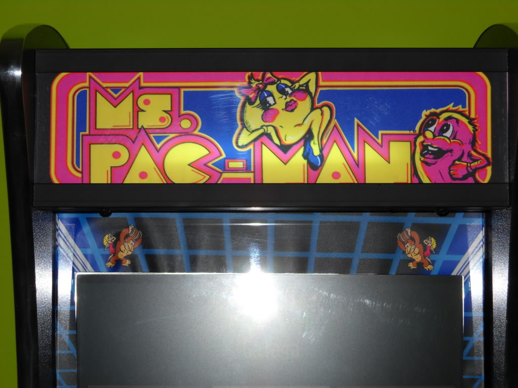 [Sell] Mini Arcade/borne table fit --with euro coin mech-- MsPacman_marquee