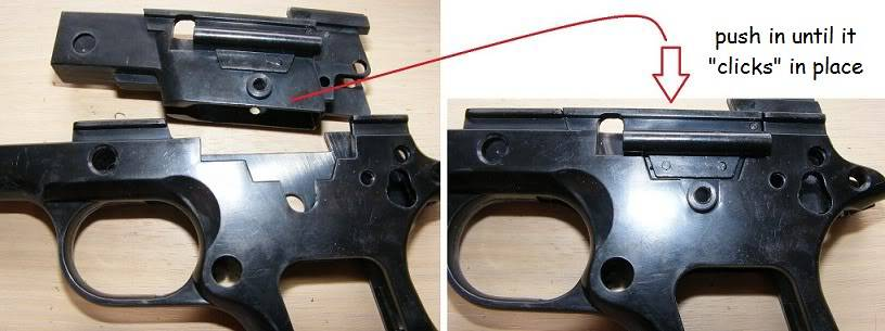Marushin 1911 Colt Kitset Build 04frameinstall