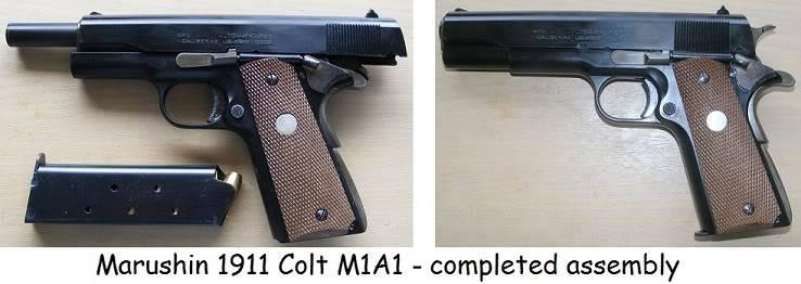 Marushin 1911 Colt Kitset Build 33coltcomplete