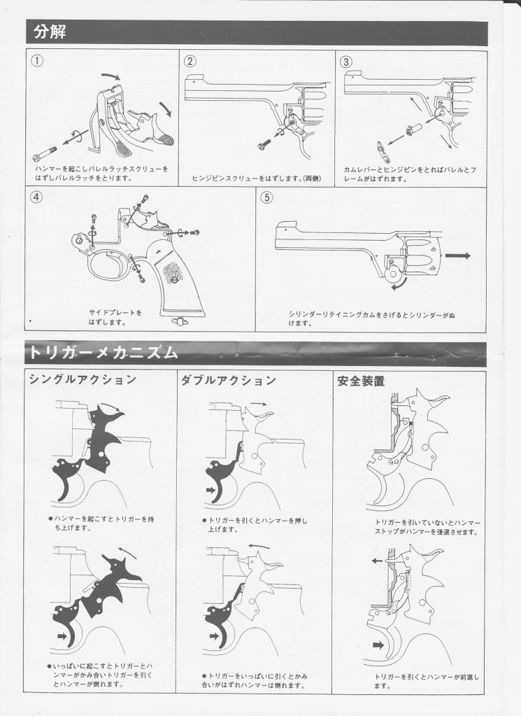 Wanted Please, Eploded Diagram Enfield Revolver (Marushin) Page7