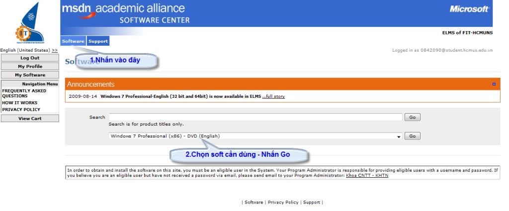 [MSDN] -- Hướng dẫn download softs có bản quyền của Microsoft Choose