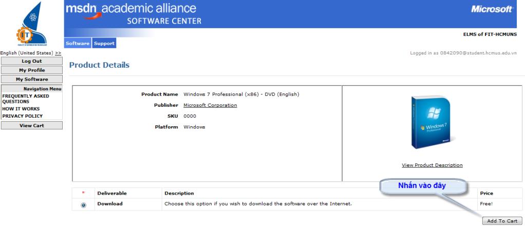 [MSDN] -- Hướng dẫn download softs có bản quyền của Microsoft Add_to_cart