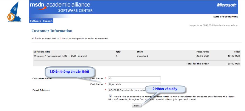 [MSDN] -- Hướng dẫn download softs có bản quyền của Microsoft After_checkout