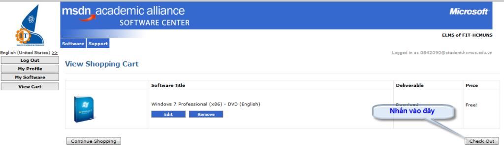 [MSDN] -- Hướng dẫn download softs có bản quyền của Microsoft Check_out