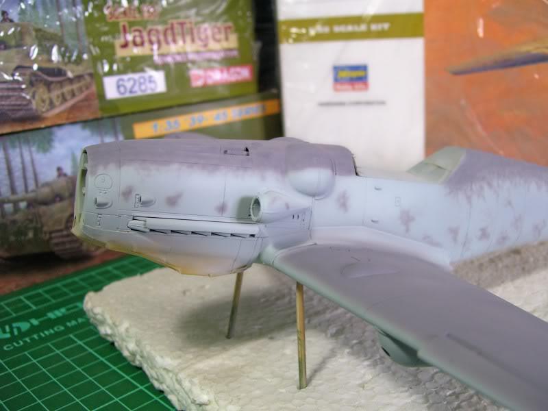 Messerschmitt Bf 109 G-6 Hasegawa 1/32 Alfred Grislawski - Página 2 AplicacaciondecamuRLM753