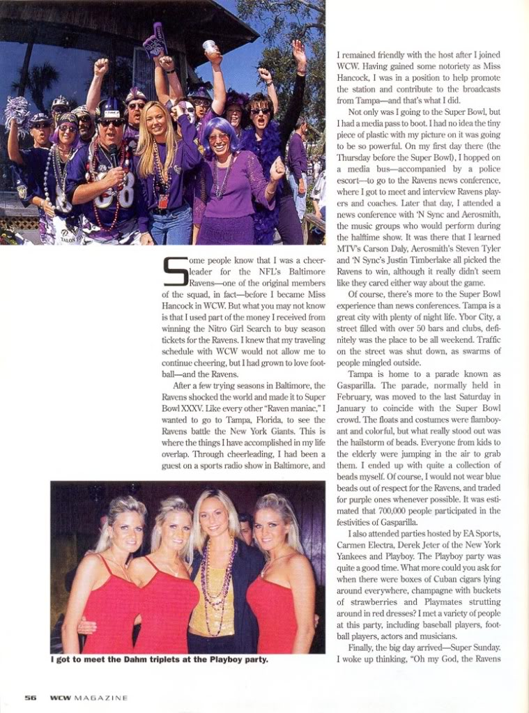 Article for WCW Magazine 2001 SK2-1