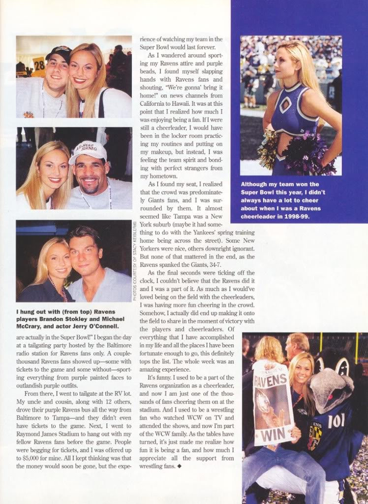 Article for WCW Magazine 2001 SK3