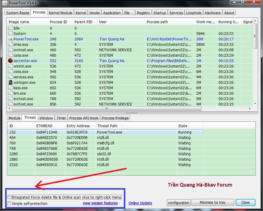 Kẻ hạ bệ XueTr: Anti-virus & rootkit & bootkit PowerTool. 10-7