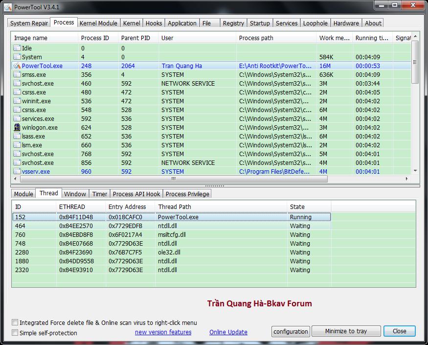 Kẻ hạ bệ XueTr: Anti-virus & rootkit & bootkit PowerTool. 2-53