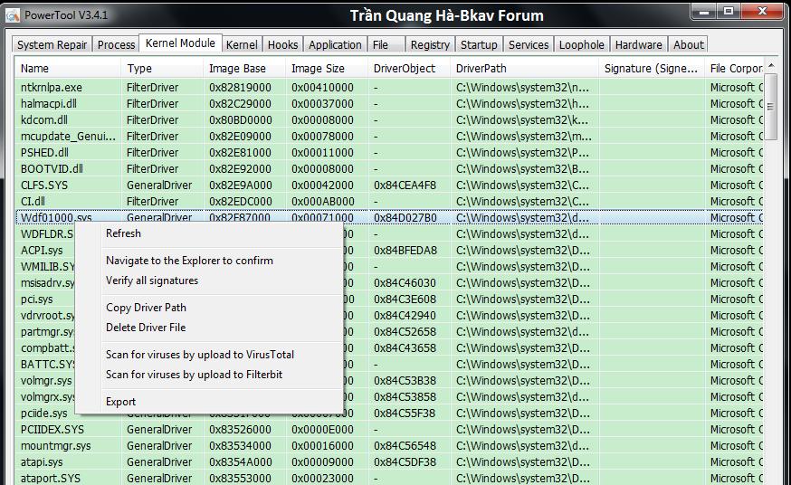 Kẻ hạ bệ XueTr: Anti-virus & rootkit & bootkit PowerTool. 3-42