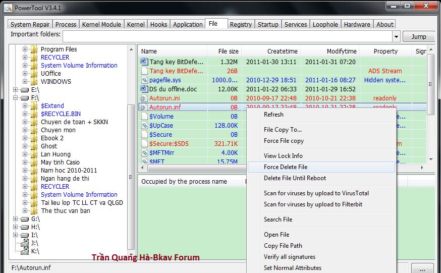 Kẻ hạ bệ XueTr: Anti-virus & rootkit & bootkit PowerTool. 5-24