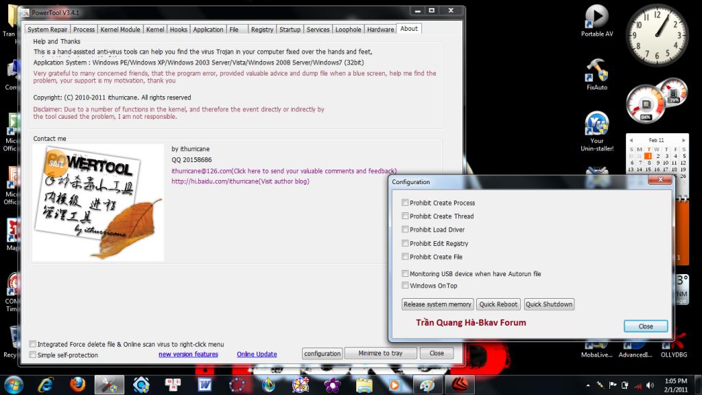 Kẻ hạ bệ XueTr: Anti-virus & rootkit & bootkit PowerTool. 9-6