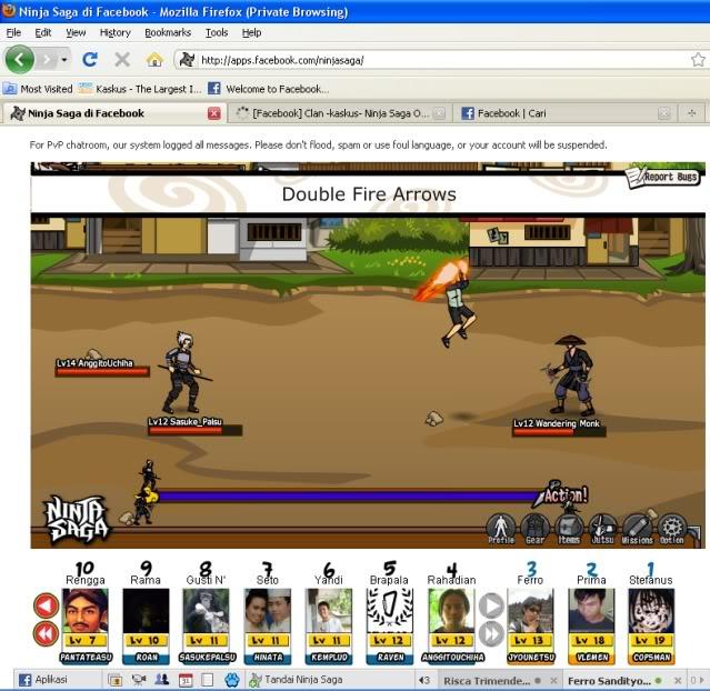ninja saga facebook Ninjasaga