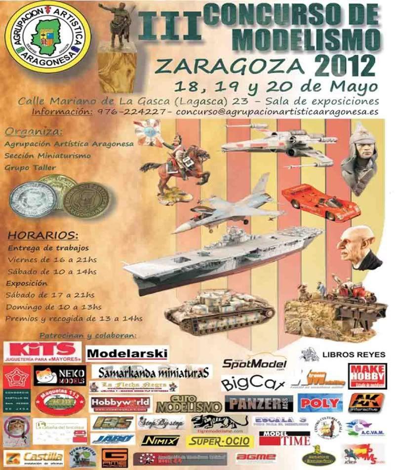 III Concurso de Modelismo Zaragoza -2012- Cartel-aaa-zaragoza-2012