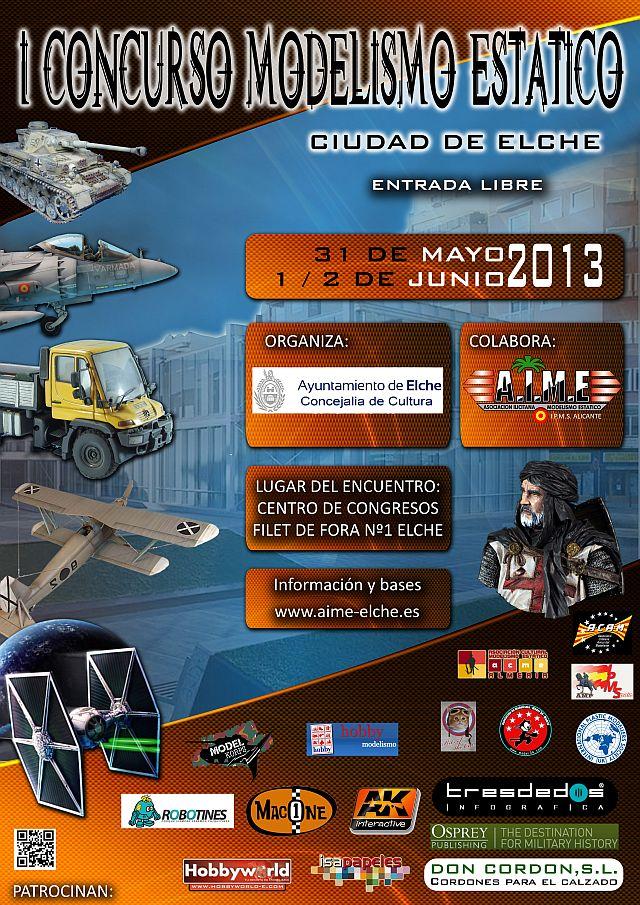 I Concurso Modelismo Estático - Ciudad de Elche - AIME - 2013 Concurso-aime-2013_zpsea9e3c13