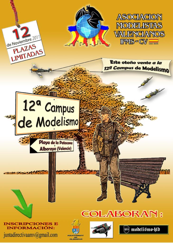 12ª Campus de Modelismo IPMS-AMV Asociación de Modelistas Valencianos 12ACAMPUS-DEF-12-nov-reducida