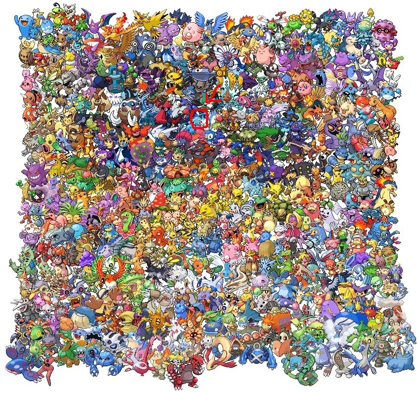 tro` chơi tim` pokemon 493pokemons