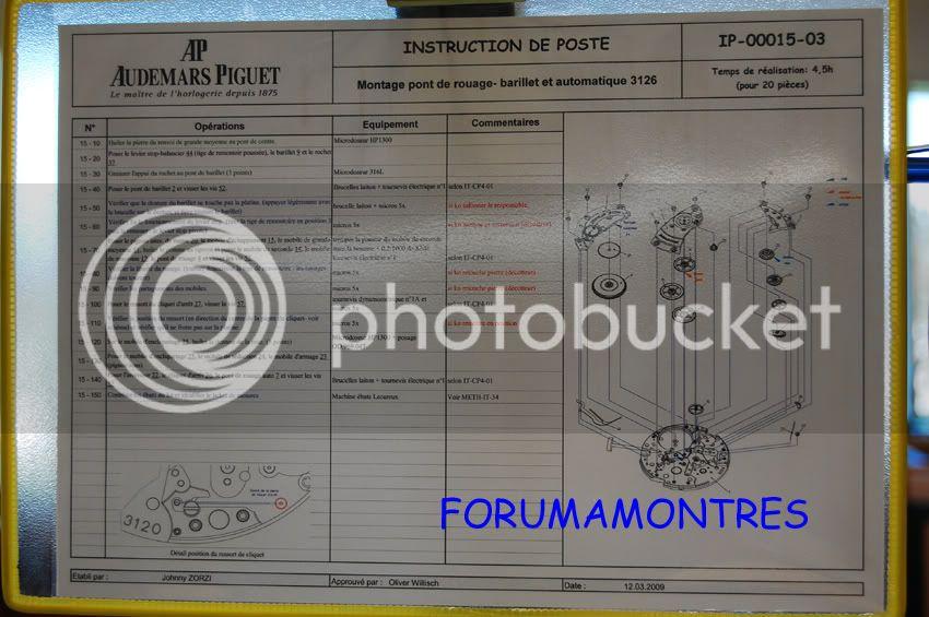 Avant première FAM  : Visite de la nouvelle manufacture Audemars Piguet Fichetechniqueparposte-1