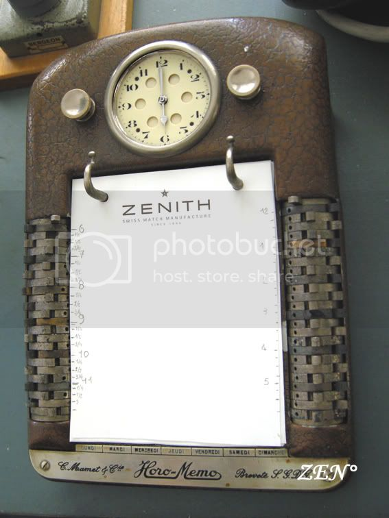 Coins et recoins de la manufacture-Découverte! L'ancètre du palm par Zenith... Horo-memoZenith