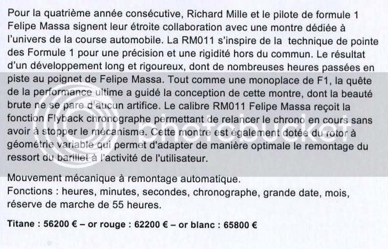 RICHARD MILLE RichardMilleFelipeMassa