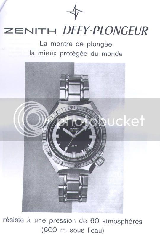 """La """"vraie"""" histoire des ZENITH DEFY ZENITHDEFYPLONGEURS600"""
