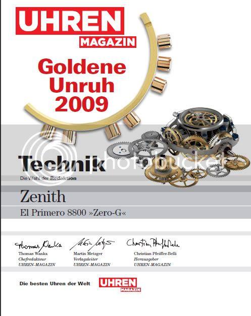 Le Zéro G remporte un prix ! ZerogPrix2009