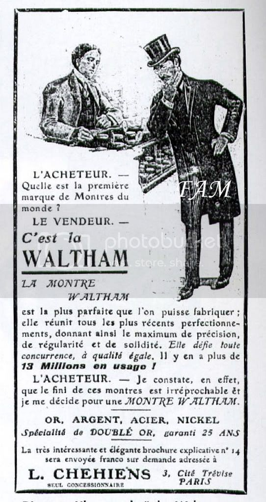 La conquête de l'europe par les marques américaines Waltham19072biscopie