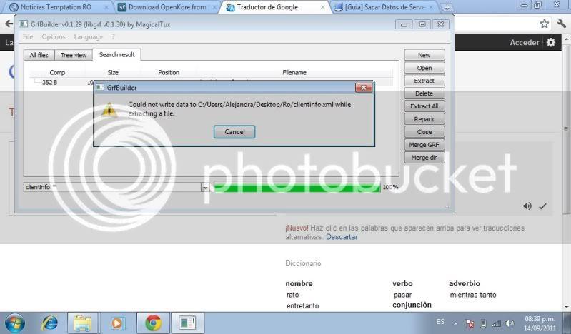[Ayuda] El GFR tool no puedo descomprimir el clientinfo Error