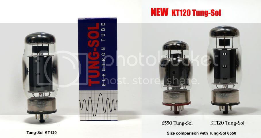 New Tungsol KT120 output tube for Dynaco amps - first impressions on 4/16/10 KT120composite