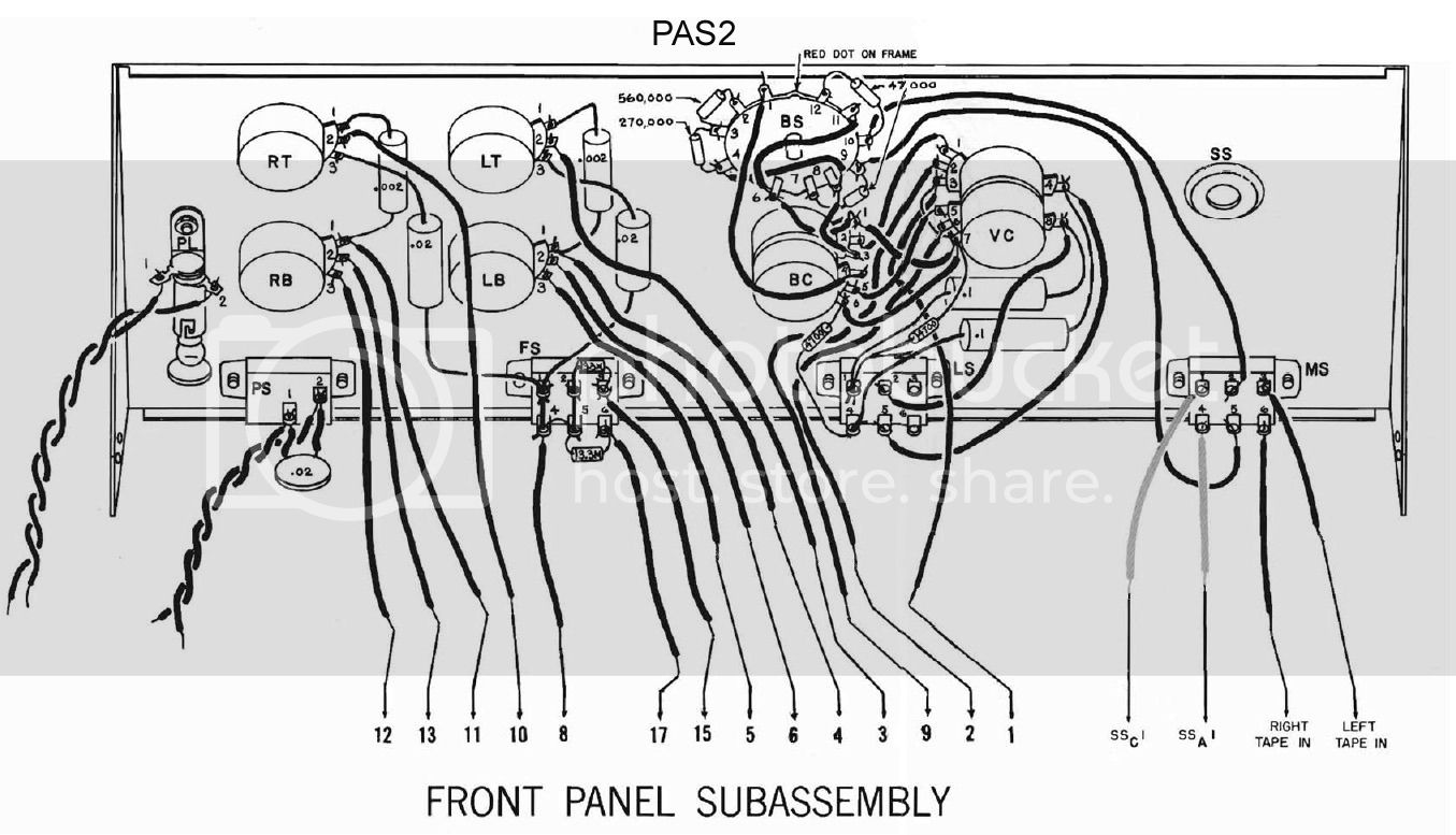 Dynaco PAS2 preamp wiring photo needed .. PAS2pictorialfrontpanel