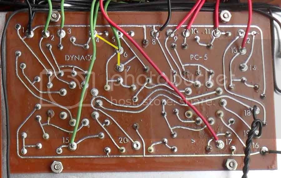 Removing DC voltage from pas 3x output Pc5