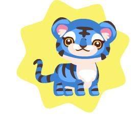 Tigre Petling Variados Colores 123