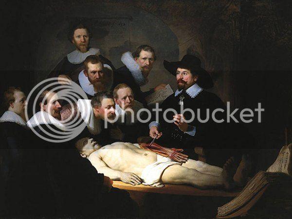 La lección de anatomía. Rembrandt. Lecciondevi2nv