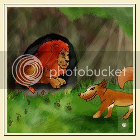 El león, la zorra y el asno Leon-y-zorra