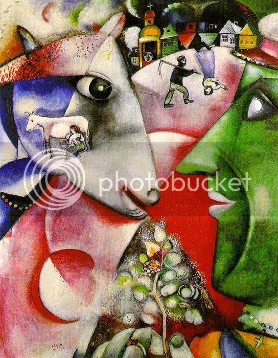 La villa y yo. Marc Chagall  Chagall_1911_zpsyylneml5